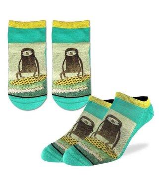 Good Luck Sock Good Luck Socks, Men's Surfing Sloth Ankle Socks - Shoe Size 7-12