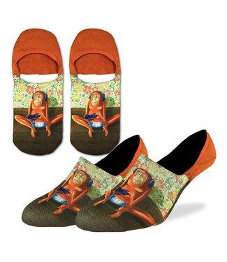 Good Luck Sock Good Luck Socks, Men's Gaming Monkey No Show Socks - Shoe Size 7-12