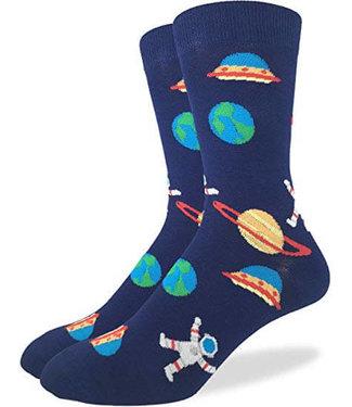Good Luck Sock Good Luck Socks, Men's Space Socks - Shoe Size 7-12