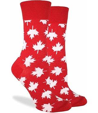 Good Luck Sock Good Luck Socks, Men's Red Canada Maple Leaf Socks - Shoe Size 7-12
