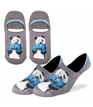 Good Luck Sock Good Luck Socks, Men's Boxing Panda No Show Socks - Shoe Size 7-12