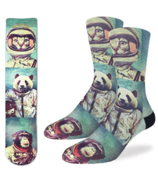 Good Luck Sock Good Luck Socks, Men's Animal Astronauts Socks - Shoe Size 8-13