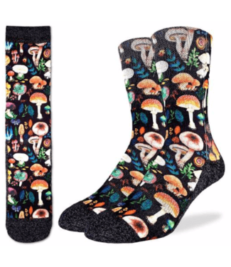 Good Luck Sock Good Luck Socks, Men's Mushrooms Socks - Shoe Size 8-13