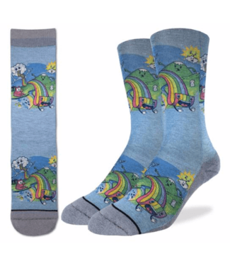 Good Luck Sock Good Luck Socks, Men's Eating Rainbow Pasta Socks - Shoe Size 8-13