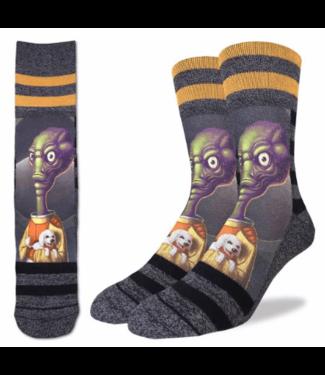 Good Luck Sock Good Luck Socks, Men's Alien Puppy Love Socks - Shoe Size 8-13