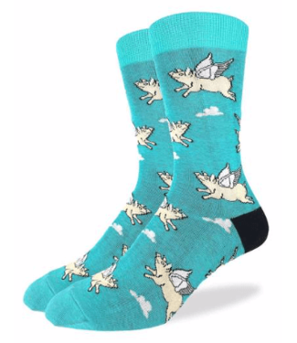 Good Luck Sock Good Luck Socks, Men's Flying Pigs Socks 2 - Shoe Size 7-12