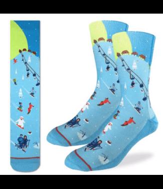Good Luck Sock Good Luck Socks, Men's Skiing Socks - Shoe Size 8-13, Blue