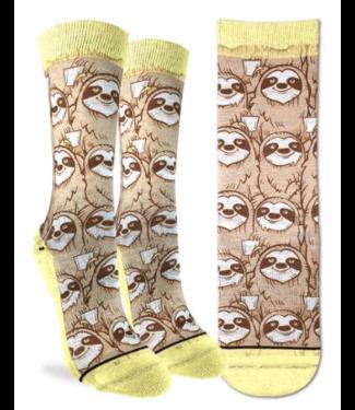 Good Luck Sock Good Luck Socks, Women's Coffee Sloth Socks - Shoe Size 5-9