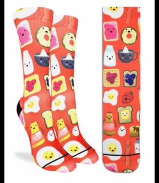 Good Luck Sock Good Luck Socks, Ws Breakfast of Champions Socks - Shoe Size 5-9, Red