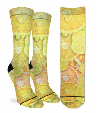 Good Luck Sock Good Luck Socks, Women's Lemons & Oranges Socks - Shoe Size 5-9