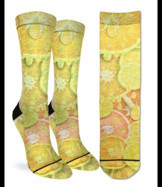 Good Luck Sock Good Luck Socks, Ws Lemons & Oranges Socks - Shoe Size 5-9, Yellow