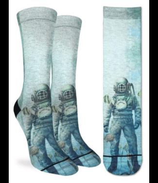 Good Luck Sock Good Luck Socks, Ws Scuba Diver Socks - Shoe Size 5-9, Blue