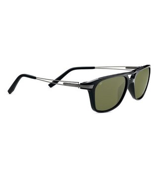 Serengeti Serengeti, Empoli Sunglasses, Shiny Black, Polar,555 NM