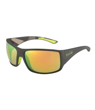 Bolle Bolle, Tigersnake Green Brown Emerald 8 Base Sunglasses, 12132