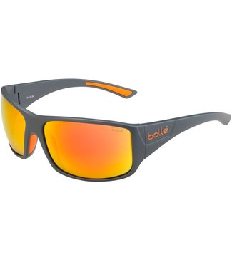 Bolle Bolle, Tigersnake Gray Polarized Brown Fire Sunglasses, 12601