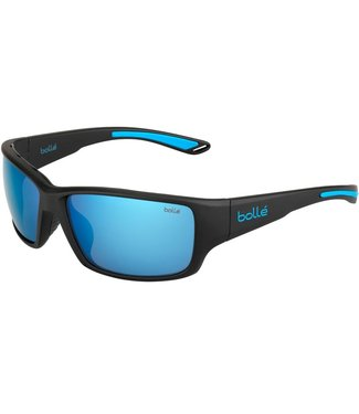 Bolle Bolle, Kayman Black Blue Polarized Offshore Blue Oleo AR Sunglasses, 12368