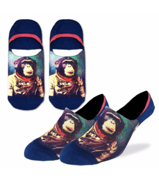 Good Luck Sock Good Luck Socks, Men's Space Monkey No Show Socks - Shoe Size 7-12