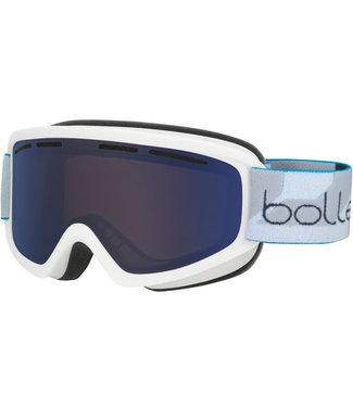Bolle Bolle, Schuss Goggle, Matte White/Bronze Blue