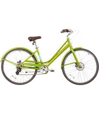 EVO EVO, Granville Step-Through City Bicycle, Summertime Lime, 17""