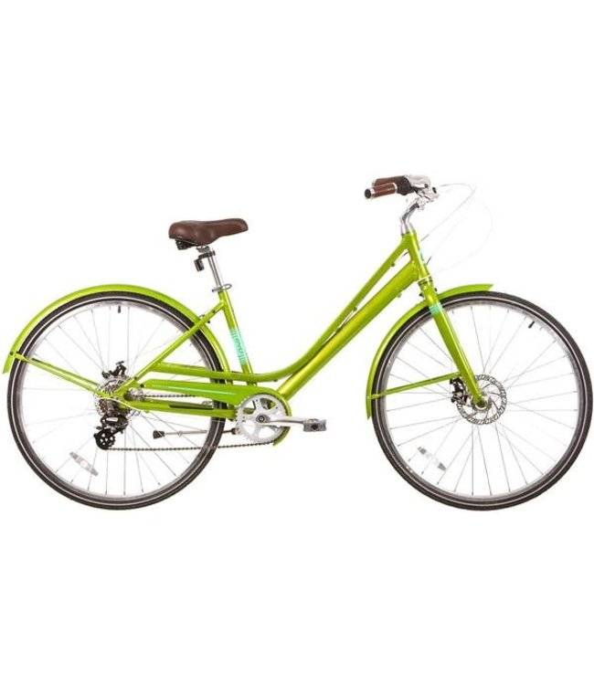 """EVO EVO, Granville Step-Through City Bicycle, Summertime Lime, 17"""""""
