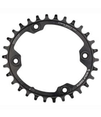 Wolf Tooth Components Wolftooth, BCD 96mm XTR M9000 Elliptical, 30T Chainring, 9-12sp, BCD: 96, Aluminum, Black