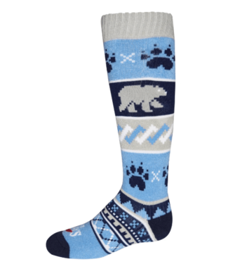 Hot Chillys Hot Chillys, Youth Bear Crossing Mid Volume Sock