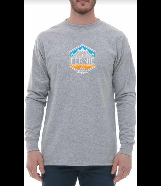 Gearhub GearHub, L/S Shirt, Geo Badge Logo