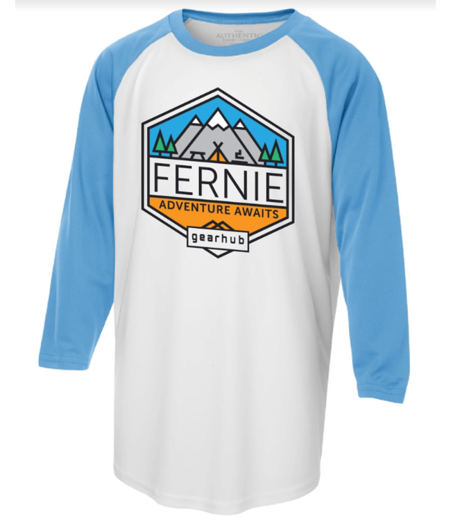 Gearhub GearHub, Youth Raglan 3/4 Sleeve Geo Badge
