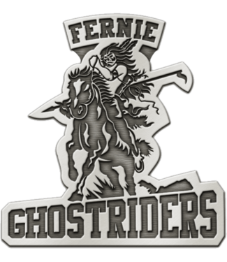Ghostriders, Pewter Pin, Gray
