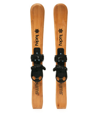 Lucky Bums Lucky Bums Wooden Heirloom Skis 90cm, Brown
