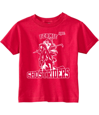 Ghostriders, Youth T-Shirt, Horse & Rider, Red, 4