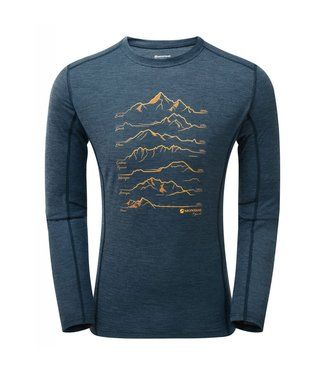 Montane Montane, Primino 140G 7 Summits Long Sleeve T-Shirt