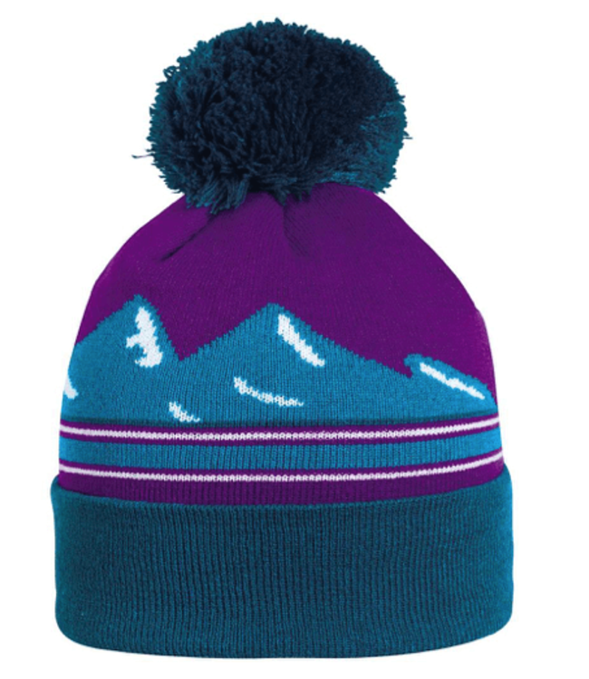 Turtlefur Turtlefur, Mountains Pom Beanie, Teal