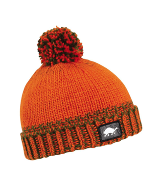 Turtlefur Turtlefur, Kids: Butch Pom Beanie, Orange, S