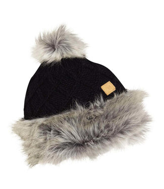 Turtlefur Turtlefur, Nepal: Cholatse Pom Beanie, Black