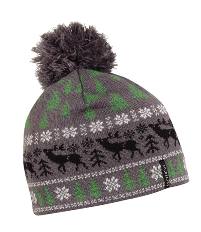 Turtlefur Turtlefur, Oh, Deer Pom Beanie, Graphite