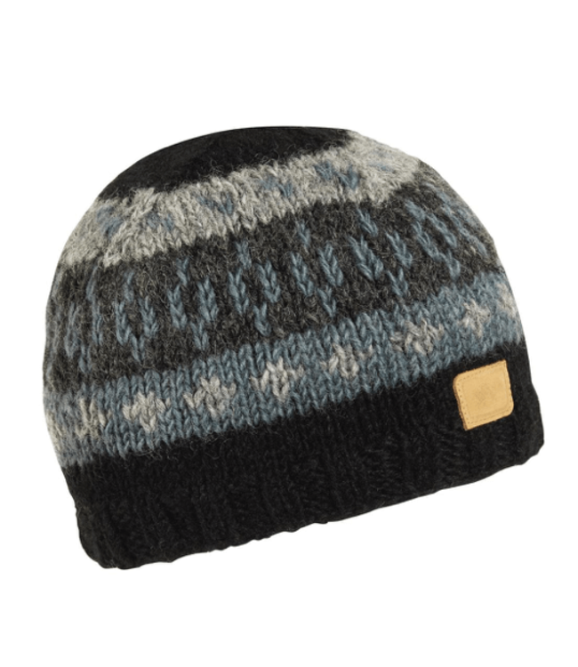 Turtlefur Turtlefur, Nepal: Kanan Hand Knit Beanie, Onyx