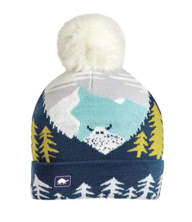 Turtlefur Turtlefur, Kids: Peaking Yeti Pom Beanie, Navy