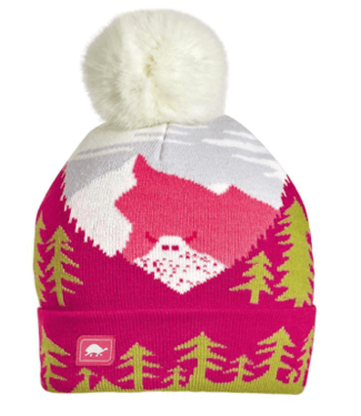 Turtlefur Turtlefur, Kids: Peaking Yeti Pom Beanie, Pink