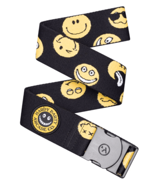Arcade Arcade, Rambler Belt, Black/Smiley Face, OSFA