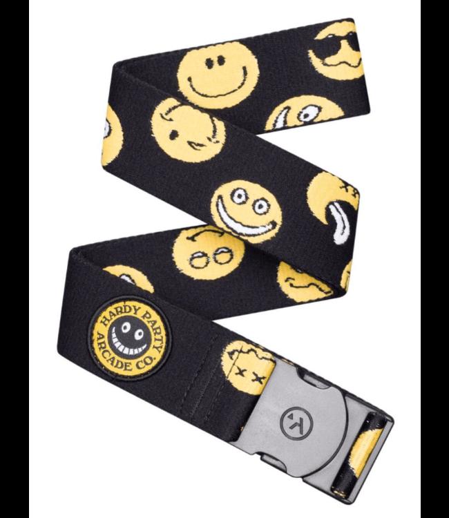 Arcade Arcade, Rambler Belt, Black/Smiley Face, OSFA