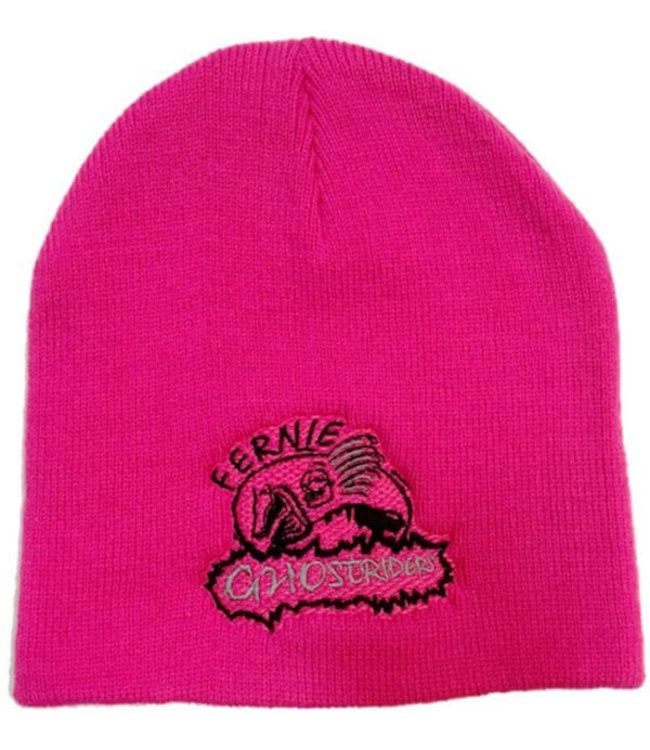 Ghostriders, Embroidered Toque, Raspberry Pink