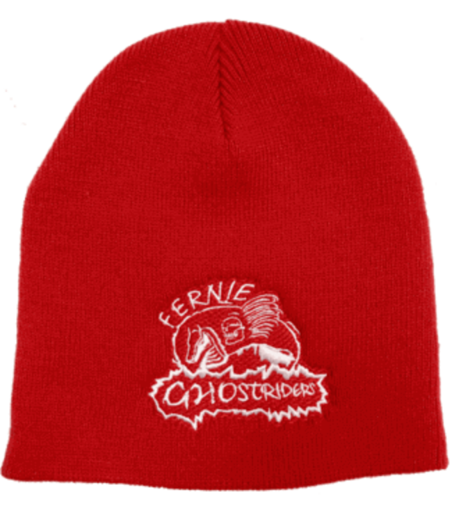 Ghostriders, Embroidered Toque, Red