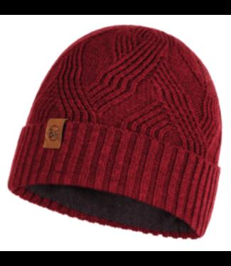 Buff Buff, Knitted & Polar Hat, Artur Maroon Red