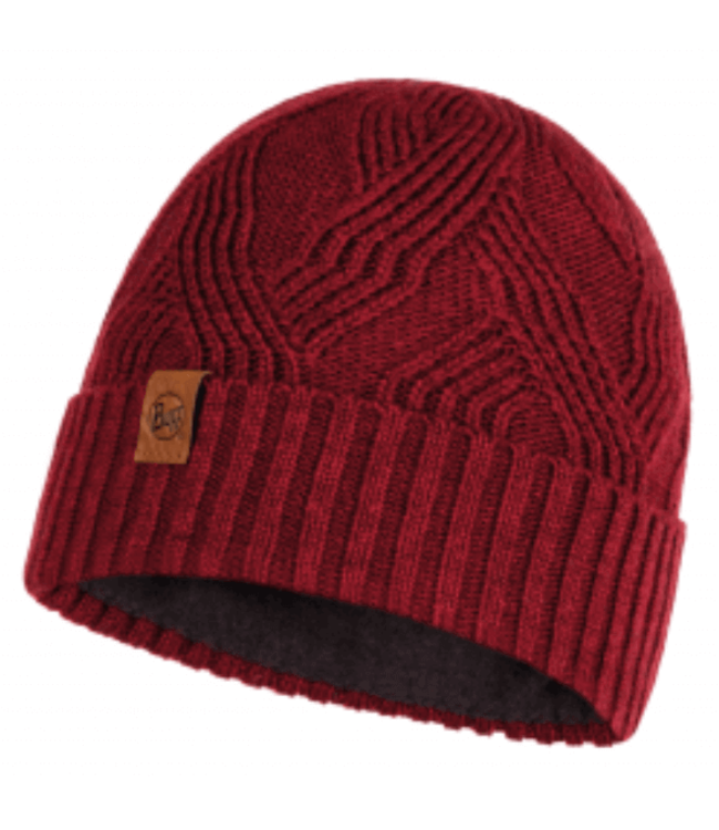 Buff Buff, Knitted & Polar Hat, Artur Maroon Red