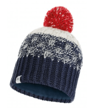 Buff Buff, Jr Knitted & Polar Hat, Tait Dark Denim