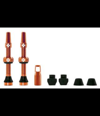 Muc-Off Muc-Off, Tubeless Valve, Presta, 44mm, Orange, Pair