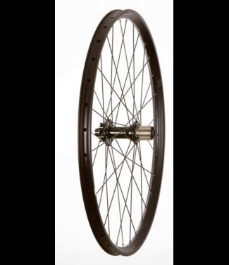 Wheel Shop, Rear 27.5'' Wheel, 32H Black Alloy Double Wall Fratelli FX25 Disc/ Black Novatec DH82 12x150mm TA 9-11spd Six Bolt Disc Hub, DT Black Stainless Spokes