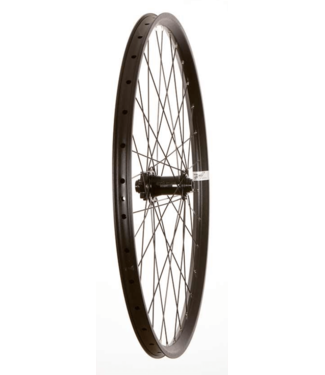 Wheel Shop, Front 27.5'' Wheel, 32H Black Alloy Double Wall Fratelli FX25 Disc/ Black Novatec D881 15x100 or 20x110mm TA Six Bolt Disc Hub, DT Black Stainless Spokes