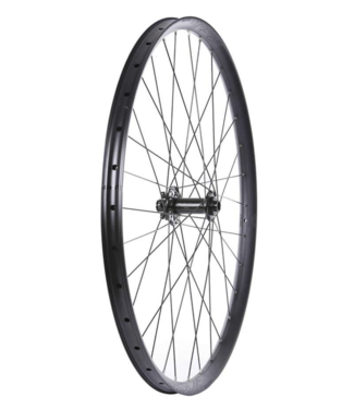 Wheel Shop, Front 29'' Wheel, 32H Black Alloy Double Wall Fratelli FX30 Disc/ Black Novatec D711 15x110mm TA Six Bolt Disc Brake Hub